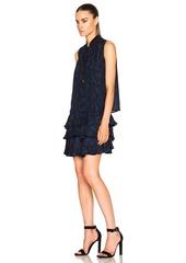 DEREK LAM 10 CROSBY Cold Shoulder Ruffle Dress