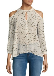 Derek Lam 10 Crosby Cold-Shoulder Silk Blouse