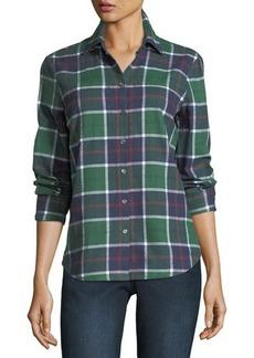 Derek Lam 10 Crosby Cotton Plaid Button-Front Shirt