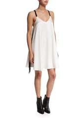 Derek Lam 10 Crosby Crepe Cami Dress W/Fringe