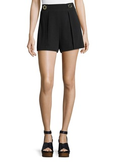 Derek Lam 10 Crosby Crepe Shorts with Grommet Details