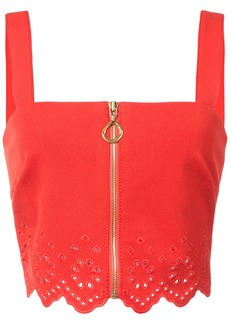Derek Lam 10 Crosby Crop Top With Eyelet Embroidery - Red