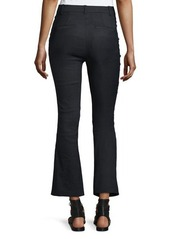 Derek Lam 10 Crosby Cropped Flare Linen-Blend Trousers