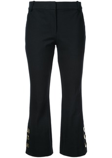Derek Lam Cropped Flare Trouser with Button Slit Hem Detail