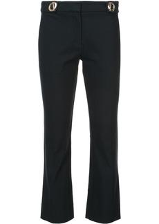 Derek Lam Cropped Flare Trouser With Grommet Detail