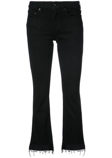 Derek Lam 10 Crosby cropped flared jeans - Black