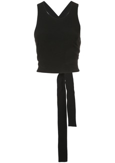Derek Lam 10 Crosby Cropped Shell With Elastic Back - Black