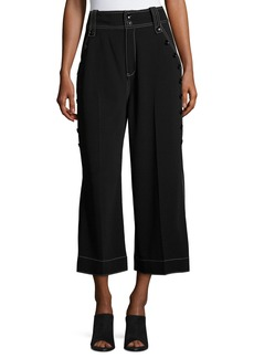 Derek Lam 10 Crosby Culotte Pants W/ Button Detail