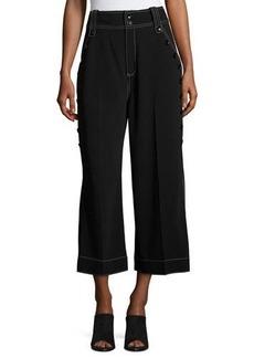 Derek Lam 10 Crosby Culotte Pants W/ Button Detail