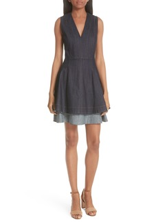 Derek Lam 10 Crosby Denim Fit & Flare Dress