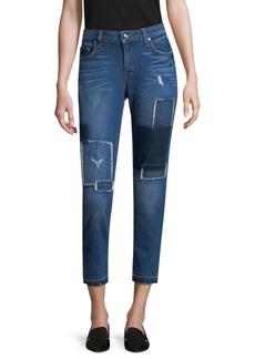 DEREK LAM 10 CROSBY DENIM Mila Patchwork Straight-Leg Jeans