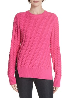 Derek Lam 10 Crosby Diagonal Cable Sweater