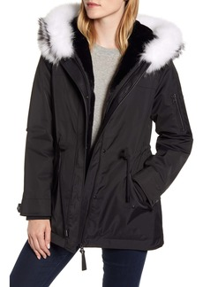 Derek Lam 10 Crosby Down Parka with Genuine Fox Fur Trim & Liner