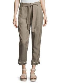 Derek Lam 10 Crosby Drawstring Wide-Cuff Utility Pants