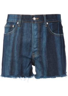 Derek Lam 10 Crosby Drew High-Rise Classic Denim Short Pinto - Blue