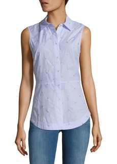 Derek Lam Embellished Tie-Back Collared Shirt