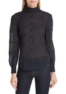 Derek Lam 10 Crosby Embroidered Eyelet Blouse