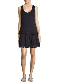 Derek Lam Embroidery Layered Tank Dress