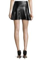 Derek Lam 10 Crosby Faux-Leather Curved-Seam A-Line Skirt