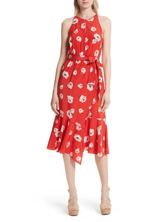 Derek Lam 10 Crosby Faux Wrap Floral Silk Dress