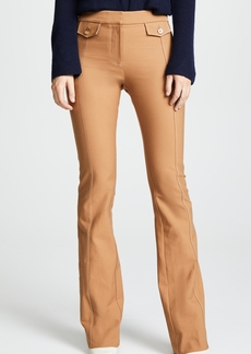 Derek Lam 10 Crosby Flare Trousers with Tab Detail