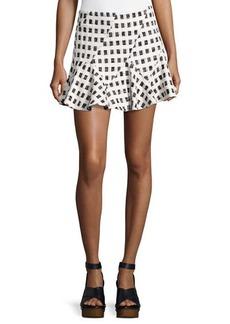 Derek Lam 10 Crosby Flared Mini Skirt W/ Lacing