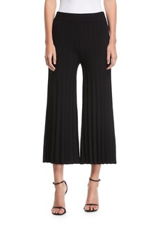 Derek Lam Flared Pleated Jersey Pants