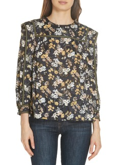 Derek Lam 10 Crosby Floral Burnout Blouse