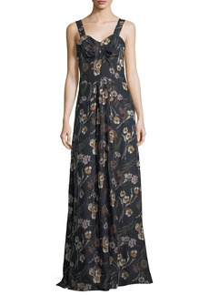 Derek Lam Floral-Print Sleeveless Maxi Dress