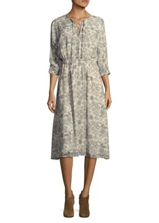 Derek Lam 10 Crosby Floral Silk Midi Dress