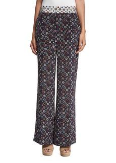 Derek Lam 10 Crosby Floral Tile Wide-Leg Trousers