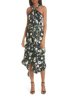 Derek Lam 10 Crosby Garden Floral Asymmetrical Midi Dress