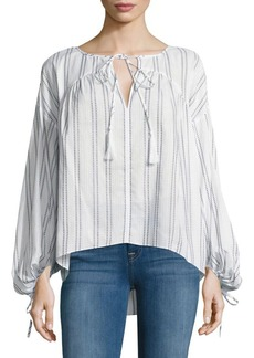 Derek Lam 10 Crosby Gathered Cotton Blouse