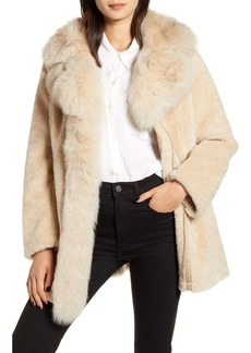 Derek Lam 10 Crosby Genuine Shearling & Fox Fur Coat