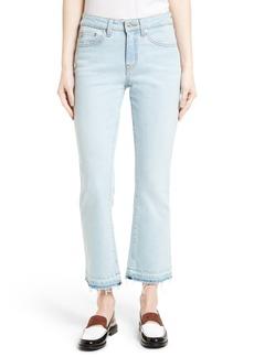 Derek Lam 10 Crosby Gia Crop Flare Jeans