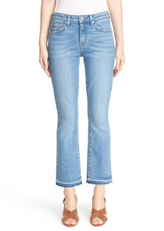 Derek Lam 10 Crosby 'Gia' Crop Flare Jeans (Light Wash)
