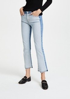 Derek Lam 10 Crosby Gia Mid Rise Cropped Flare Jeans