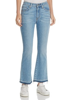 Derek Lam 10 Crosby Gia Mid-Rise Cropped Flare Jeans in Light Wash