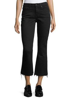 Derek Lam 10 Crosby Gia Mid-Rise Cropped Flared Jeans