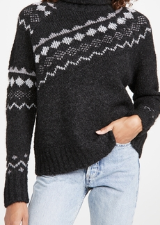 Derek Lam 10 Crosby Grammer Diagonal Fair Isle Turtleneck