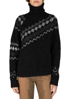 Derek Lam 10 Crosby Grammer Diagonal Turtleneck Sweater