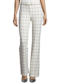 Derek Lam 10 Crosby Grid-Print Flared Pants
