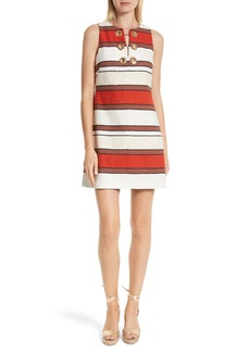 Derek Lam 10 Crosby Grommet Detail Stripe Shift Dress