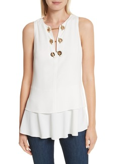Derek Lam 10 Crosby Grommet Detail Top
