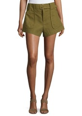 Derek Lam 10 Crosby High-Waist Belted Shorts