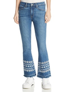 Derek Lam 10 Crosby Jane Mid Rise Flip Flare Jeans in Medium