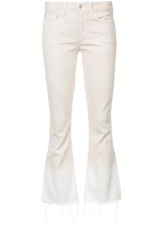 Derek Lam 10 Crosby Jane Mid-Rise Flip Flop Flare - White