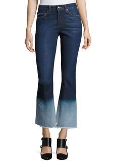 Derek Lam 10 Crosby Jane Mid-Rise Flip Flop Flare Jeans