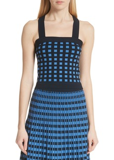 Derek Lam 10 Crosby Knit Cross Back Top