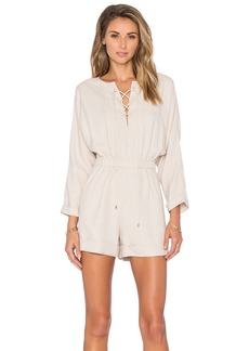 DEREK LAM 10 CROSBY Lace Up Romper